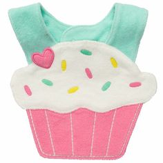 Carter's Baby Girls' Pink Cupcake Bib on Baby Girls, Carters Baby Girl, My Baby Girl, Pink Girl, Baby Girl Cupcakes, Teething Bibs, Baby Bibs Patterns, Baby Girl Accessories, Baby Sewing Projects
