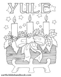 Yule Kids Colouring Page