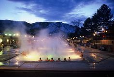Glenwood Springs, Colorado. I love the Natural Hot Springs pools they have there.