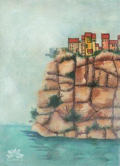 Cliffside Watercolour