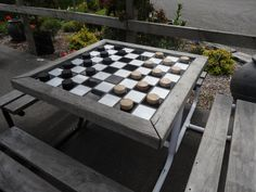 Entertain with this GIANT Checker Board table  http://www.amazeme.co.nz/