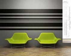 Wall Decal Geometric Stripes Lines Horizontal Pattern