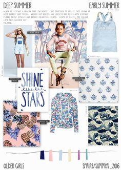 Spring/Summer 2016 - Older Girls Fashion - Deep Summer - Surf Trend