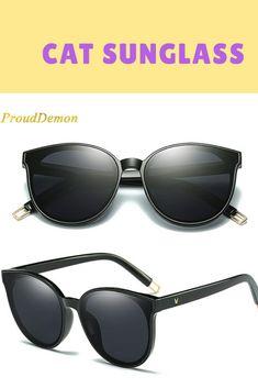 5226e57db59a4 Cat Eye Sunglasses Elegant oculos de sol men Twin Beam oversized Sun  glasses UV400