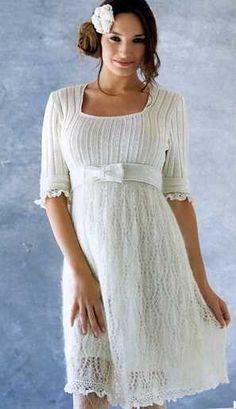 Белое вязаное платье. Обсуждение на LiveInternet - Российский Сервис Онлайн-Дневников