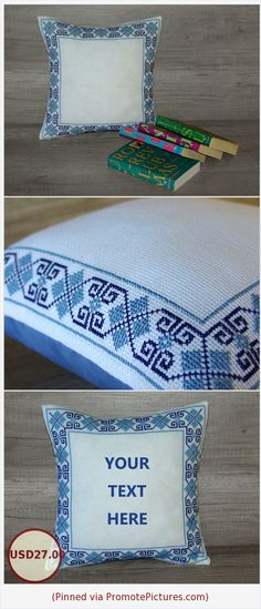 Greek key pillow, cute cross-stitch pillow, geometrical cushion, needlepoint pillowcase, embroidered cover 12 x 12 (32 x 32 cm) ~ gift idea https://www.etsy.com/AdorningPillows/listing/515791742/greek-key-pillow-cute-cross-stitch?ref=shop_home_active_55  (Pinned using https://PromotePictures.com)