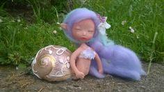 ooak hermit shellfae faery oddfae fairy doll por MundoMagico