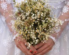 Boho Purity Dried Flower Bouquet by EnglishFlowerFarmer on Etsy