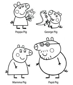 Printable Peppa Pig Coloring Pages. Have a Joy with Peppa Pig Coloring Pages. Do your children like to color pictures? If they do, the Peppa pig coloring pages Peppa Pig Coloring Pages, Summer Coloring Pages, Disney Coloring Pages, Coloring For Kids, Printable Coloring Pages, Peppa Pig Familie, Peppa Pig Pictures, Peppa Pig Drawing, Peppa Pig Printables