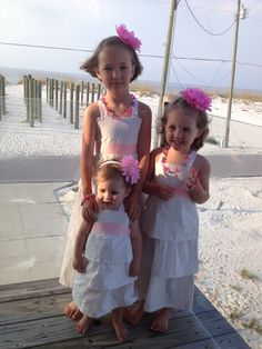 Beach Dresses....Hey I know these Beautiful girls!!! :) You did a great job on these Laura!!!