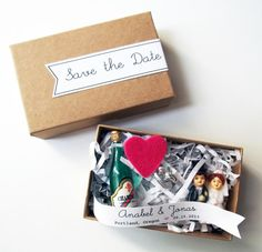 Tiny Box of Tiny Figurines | 36 Cute And Clever Ways To Save The Date