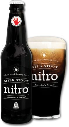 Left Hand Milk Stout Nitro...in a BOTTLE!!!!  Looks like I'll be a lot drunker from now on...