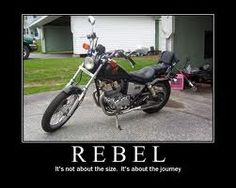 I learned to ride on a 1986 Honda Rebel Limited.  Love it.