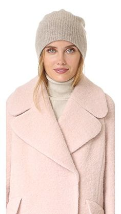White   Warren Women's Cashmere Plush Rib Beanie, Dust Heather, One Size *** Find out more about the great product at the image link.