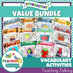 Vocabulary Activities Value Bundle for Speech Therapists