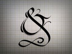 tattoo font ampersand guitar - Google Search