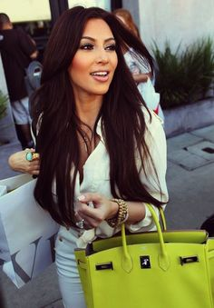 Kim's hair and make up...and clothes and bags and shoes please!