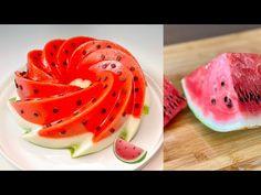 Od dnes už nezrelý melón nikdy nevyhodíte, pripravte si tento lahodný recept! # 201 - YouTube Plus Jamais, Jello, Sweet Recipes, Watermelon, Youtube, Yummy Food, Sweets, Desserts, Yummy Recipes