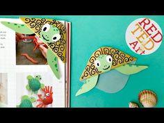 Easy Turtle Bookmark Corner - Red Ted Art's Blog