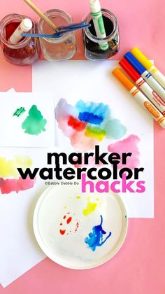 How to make watercolors from markers using these three different techniques.