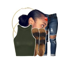 A fashion look from June 2016 by ayeeitsdessa featuring Topshop et Birkenstock