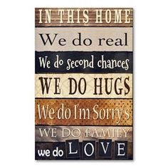 """""""In this Home"""" Wall Decor"""