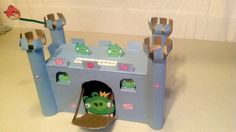 Angry Birds Valentine's Day Box with moving bridge door.