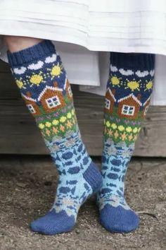 Одноклассники Fair Isle Knitting, Loom Knitting, Free Knitting, Knitting Socks, Aran Weight Yarn, Wool Socks, Vintage Knitting, Textiles, Knitting Patterns