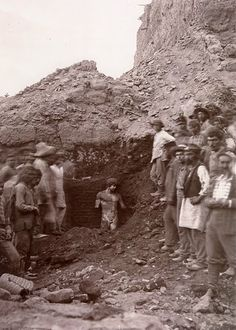 the discovery of a statue of Antinous at the excavation site of the ancient city of Delphi in Greece in Ancient Rome, Ancient Greece, Ancient History, Ancient Art, Photos Du, Old Photos, Origin Of Christianity, Statue Antique, Vaison La Romaine