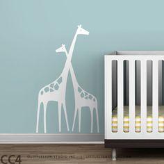Nursery Wall Decal Mom and Baby Giraffe Baby Zoo. $44.00, via Etsy.    http://www.etsy.com/listing/66360291/nursery-wall-decal-mom-and-baby-giraffe