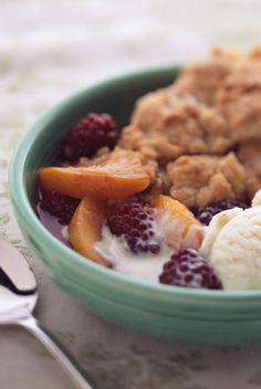 Deen Bros. Cobbler.  This is my favorite cobbler recipe.  I use whatever frozen fruit I feel like at the time since we rarely have good fresh fruit in NM.