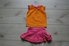 Hanna Andersson Pink & Orange Skort & Top Outfit