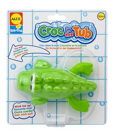 Another great find on #zulily! Croc in the Tub Swimming Figurine #zulilyfinds