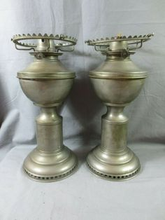 2 ANTIQUE HITCHCOCK WATERTOWN N Y 1880'S CLOCKWORK OIL LAMPS WANZER TYPE #Victorian #Lamps Table Lamp Base, Lamp Bases, Lantern Lamp, Lanterns, Candlestick Holders, Candlesticks, Kerosene Heater, Candle Power, Antique Oil Lamps