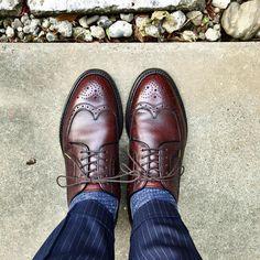 Shetland Fox 今日は出歩くので痛くない靴 #shetlandfox #shoes #mensshoes #sotd #shoesoftheday #シェットランドフォックス #紳士靴 #革靴