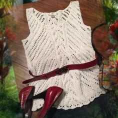 HPWHITE SWEATER W/SHIMMER THROUGHOUTKENAR Beautiful sleeveless sweater with silver threading throughout giving a little shimmer..❤️LISTING IS FOR SWEATER ONLY..   SB-1 Kenar Sweaters Crew & Scoop Necks