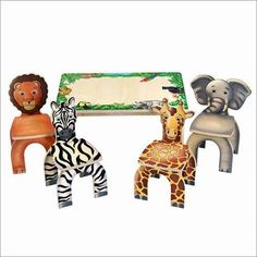 Safari Table and Animal Chairs by Anatex * You can get additional details at the image link.