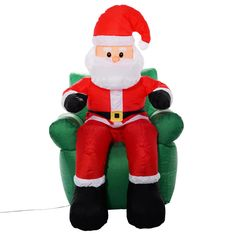 6 Ft Airblown Inflatable Christmas Xmas Santa Claus Sofa Decor Lawn Yard Outdoor