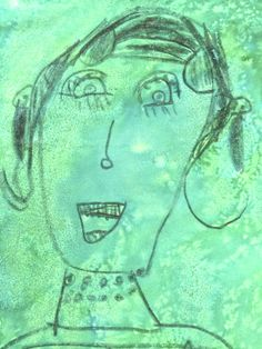 Crayon and Food Dye Portrait Prep