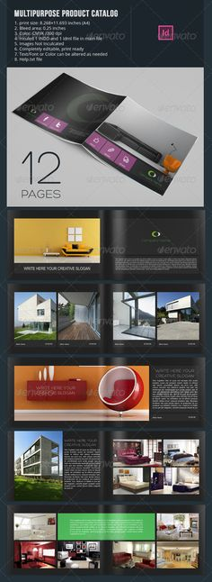 Multipurpose Product Catalog  12 PagesFully layered INDD 12 Pages Completely editable, print ready Text/Font or Color can be alter
