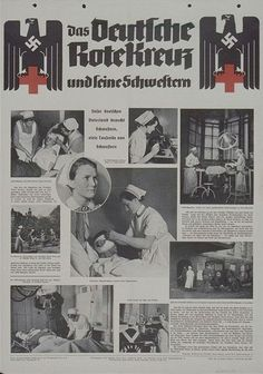 . Gothic Fonts, Vintage Nurse, German Women, The Third Reich, Old Ads, Red Cross, World War Two, Ww2, Germany