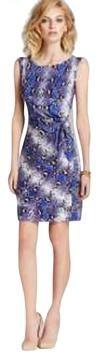 Diane von Furstenberg Blue Iris Python Pop New Della Silk Jersey Dress