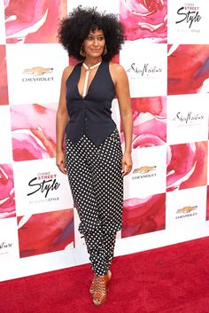 Polka dots pants for women, vests as a top on Tracee Ellis Ross and more of her most Killer Style Moments - Essence.com