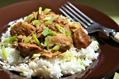 Filipino chicken adobo, made in the slow cooker.
