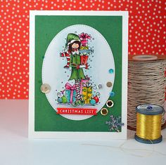 CHRISTMAS LIST  Handmade Card by paperCARDinal on Etsy