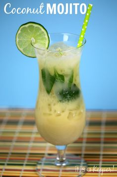 This COCONUT MOJITO is my new favorite cocktail!