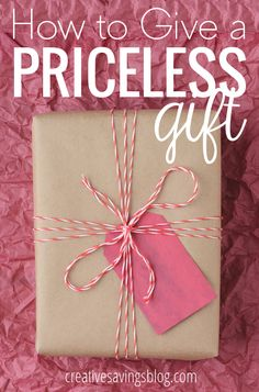 Rethink traditional gift-giving and learn what REALLY counts when you give someone a meaningful gift. The amazing resource mentioned in this post includes over 70 priceless gift ideas and will unlock your creative potential!