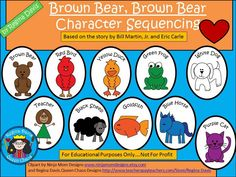 Free: Brown Bear, Brown Bear What Do You See? (by Bill Martin, Jr. and Eric Carle) Story Sequencing Characters and Pouch.  For Educational Purposes Only....Not For Profit. Enjoy! Regina Davis aka Queen Chaos at Fairy Tales And Fiction By 2.