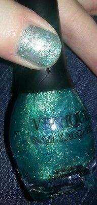 NEW VENIQUE Nail Polish Lacquer SWEET LAYERS ~ SEA GREEN SHIMMER