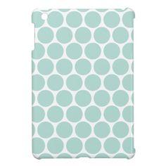 Mint Mod Big Dots iPad Mini Covers